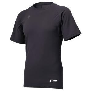 メール便送料無料 DESCENTE(デサント) STD-721 丸首半袖アンダーシャツ メンズ 野球アンダーウェア BLK|yamazakisports-ysp