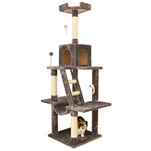 アイリスプラザ キャットランド 据え置き ハンモック付き グレー キャットタワー|yamazoo-store