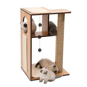 ジェックス cat it ヴェスパー キャットタワー V-ボックス ラージ 猫用家具 爪とぎクッション付|yamazoo-store