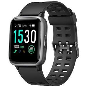 スマートウォッチ 腕時計 Yamay 最新 万歩計 心拍計 活動量計 ストップウォッチ IP68防水 最長連続7日間使用可能 画面の明るさ調|yamazoo-store