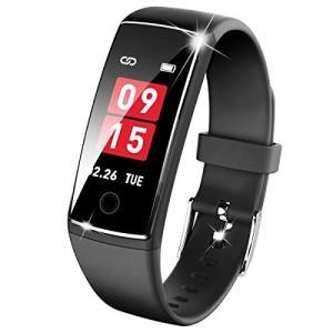 最新進化版 スマートウォッチ IP67防水 心拍計 スマートブレスレット 歩数計 活動量計 カラースクリーン 電話着信 LINE アプリ通知|yamazoo-store