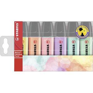 スタビロ 蛍光ペン ボスオリジナル パステル 6色セット 70-6-2|yamazoo-store