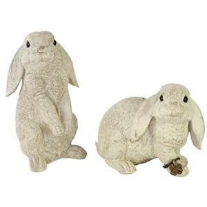 ガーデンオーナメント(M) Rabbit(ラビット) 2個セット KH-60869|yamazoo-store