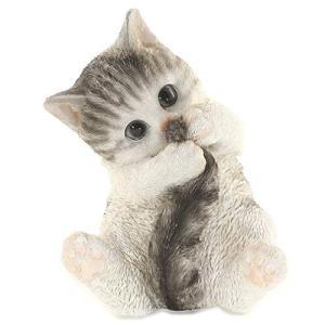 ファンシーca177(サバトラ) ネコ サバトラ 誕生日プレゼント 女性 人気 彼女 猫 母 ギフト 置物 インテリア ガーデニング ガーデ|yamazoo-store