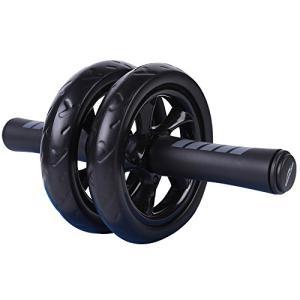 Soomloom アブホイール エクササイズウィル スリムトレーナー 超静音 腹筋ローラー エクササイズローラー 膝を保護するマット付き|yamazoo-store