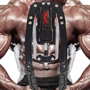 筋トレグッズ アームバー グリップ 大胸筋トレ サプリ 握力グリッパー 器具 胸筋 腕 手首 背筋 トレーニングアームマシーン 油圧 10k|yamazoo-store