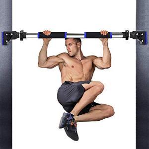 NKLL 懸垂バー 鉄棒 室内用 ドアジム けんすいマシーン 自宅 筋力トレーニング|yamazoo-store