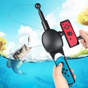 2020最新進化版 釣り竿 Joy-con用 釣りスピリッツ対応 スイッチ 釣竿 釣りロッド 体感コントロールゲーム フィッシング|yamazoo-store