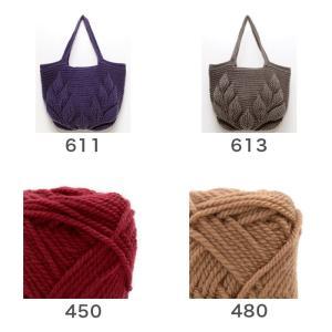 編み物 キット / Hamanaka(ハマナカ) ハマナカボニーで編むリーフ柄の引き上げ編みバッグキット|yanagi-ya|05