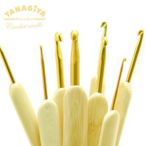 柳屋オリジナル 竹製かぎ針 <bamboo-crochet-needle>  サイズ 2/0号、3/...