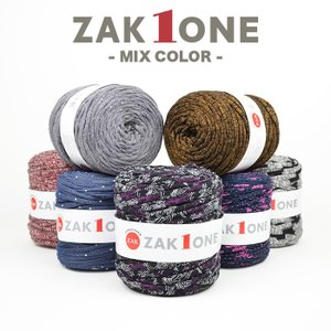 ズパゲッティと同じTシャツヤーン 糸 柄 100m YANAGIYARN(ヤナギヤーン) ZAK ONE ザックワン MIX COLOR 4 柳屋オリジナル