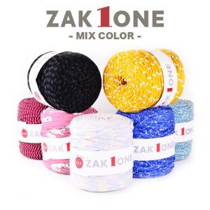 ズパゲッティと同じTシャツヤーン 糸 柄 100m YANAGIYARN(ヤナギヤーン) ZAK ONE ザックワン MIX COLOR 14 柳屋オリジナル