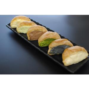 シュークリーム ずんだ3個・黒胡麻3個のセット お菓子 スイーツ|yanagiyakashi