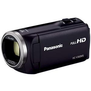 パナソニック HDビデオカメラ V360MS 16GB 高倍率90倍ズーム ブラック HC-V360MS-K|yanagoma-store