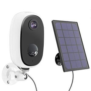 【2021最新型】COOAU 防犯カメラ ソーラー WiFi/ワイヤレス 1080P 200万画素 10000mAh高容量 電池式 監視カメラ 屋外|yanagoma-store