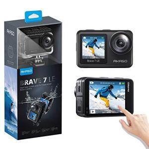 アクションカメラ AKASO Brave 7 LE 水中カメラ 4K 20MP 高画質 IPX7本機防水 デュアルカラースクリーン Wi-Fi EIS|yanagoma-store