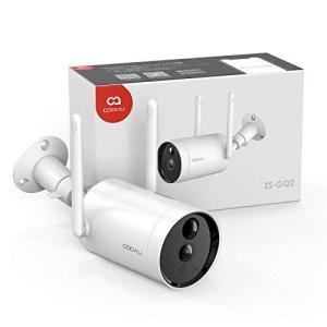 【2021最新型電池式】 COOAU防犯カメラ 屋外 ワイヤレス/WiFi 1080P 10400mAh大容量バッテリー 電池式 監視カメラ 完全無線|yanagoma-store