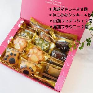 お中元 焼き菓子詰め合わせ スイーツギフト16個セットLサイズ 送料無料(一部地域を除く) 猫で笑顔 ギフト |yanakado