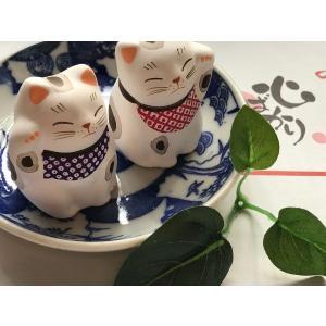 招き猫  江戸の粋 ペア招き猫|yanakado