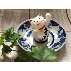招き猫 開運 運勢上向きひと言招き猫 左手 人招き|yanakado