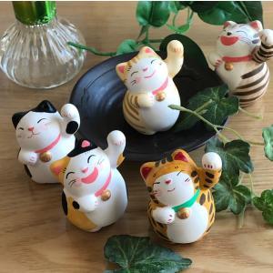 招き猫 開運 運勢上向招き猫 左手 人招き|yanakado