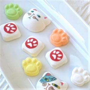 猫 ラムネ らむねこ 猫 谷中堂 プレゼント 徳島の和三盆と吉野葛使用 和菓子|yanakado