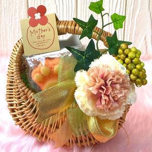 母の日限定 焼き菓子 猫皿と肉球マドレーヌの花かご 猫 谷中堂