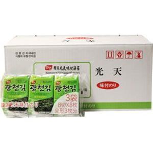 韓国のり 光天 グァンチョンのり(8切×8枚×3袋)×24 (1ケース) BOX
