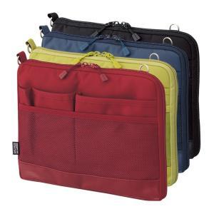 バッグインバッグ ヨコ型 ポーチ キャリングポーチ ポシェット 携帯ケース トラベルグッズ 軽い 薄型 軽量 携帯ケース パスポート入れ 小物入れ 初売り|yandk