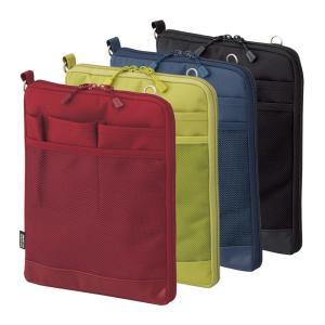 バッグインバッグ ポーチ キャリングポーチ ポシェット 携帯ケース トラベルグッズ タテ型 薄型 軽量 携帯ケース パスポート入れ 大きめ 小物入れ 文具小物 無地|yandk