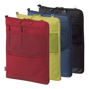 バッグインバッグ タテ型 ポーチ キャリングポーチ ポシェット 携帯ケース トラベルグッズ Lサイズ 薄型 軽量 パスポート入れ 大きめ 小物入れ 文具小物|yandk