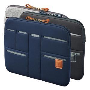 バッグインバッグ ポーチ キャリングスリーブ ヨコ型 携帯ケース コスメ収納 化粧ポーチ Mサイズ タブレット収納 ブランド ファスナー式 スリットポーチ|yandk