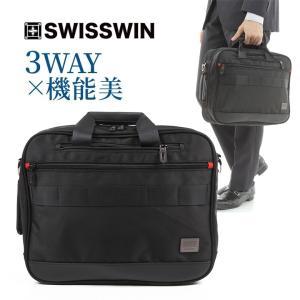 SWISSWIN バックパック 3way ビジネスバッグ ブリーフケース カバン 鞄 バッグ メンズ...