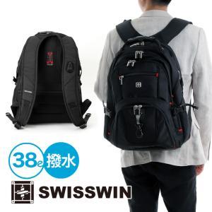 SWISSWIN バックパック リュックサック ブランド ビジネスリュック メンズ 旅行用バック 鞄 サイドポケット 通勤 通学 B4 ポケット 多い 多機能 撥水 初売り|yandk