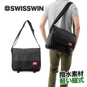 SWISSWIN ショルダーバッグ メッセンジャーバッグ メンズ 斜めがけバッグ 斜め掛け バッグ レディース 2way メンズ BAG 通勤 通学 軽量 小物入れ 撥水 ギフト|yandk