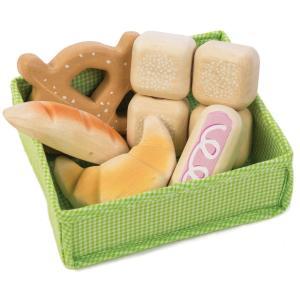 tender leaf toys 木製 ブレッドクレイト イギリスデザインの5種類のパンセット オモチャ パン屋さん お店屋さんごっこ おもちゃ ごっこ遊び 男の子 女の子