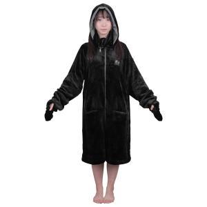 Bauhutte(バウヒュッテ) ゲーミング着る毛布 ダメ着4G LITE ブラック Lサイズ HF...