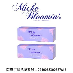 Miche Bloomin 1day Quarter Veil2箱(30枚入り/箱)/2boxes(30pieces/box)1ケ月セット(1month set)|yanjing