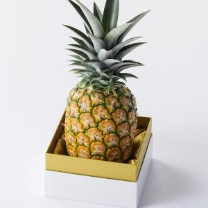 極パイン【大サイズ 1kg以上】【ギフトに】 国産極上パイナップル 農薬、化学肥料不使用|yao800