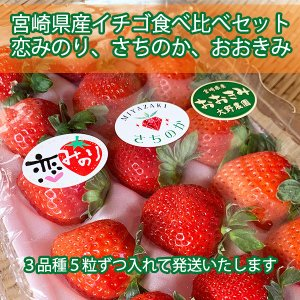 【宮崎県産イチゴ3種食べ比べセット】おおきみ、さちのか、恋みのり|yao800