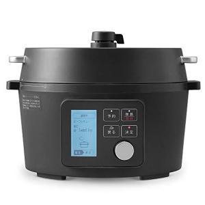 アイリスオーヤマ 電気圧力鍋 4.0L 自動メニュー90種類 2WAYタイプ グリル鍋 ガラス蓋付き レシピブック付き 業界最高出力1000W ブラッ yaoyorodu-store
