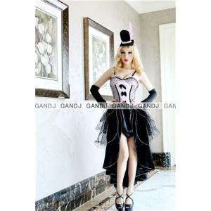 ハロウィン コスプレ 衣装/ロングドレス 4層レースYapy7628|yapy