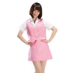 コスプレ衣装 OL制服 ショムOL コスチューム/ピンク・グレー・ブルー|yapy