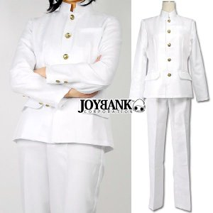 コスプレ衣装/純白の学ランコスチュームセット/制服/男装/応援団 yapy
