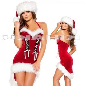 サンタクロース 衣装/前編み上げ サンタ衣装 クリスマスYapy9462|yapy