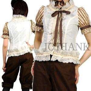 王子様風衣装/ドール風ストライプスリーブブラウスyapy01000592|yapy
