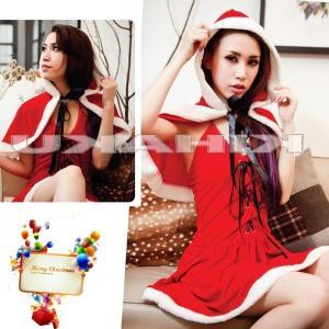 サンタクロース 衣装/フード付きケープ サンタ衣装Yapy9493|yapy