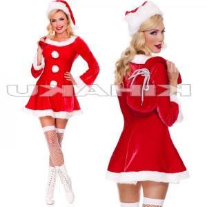 サンタクロース 衣装/長袖 3個ボンボン サンタ衣装Yapy9492|yapy