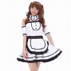 コスプレ メイド服/可愛い純白メイドさん/C432/在庫処分品|yapy