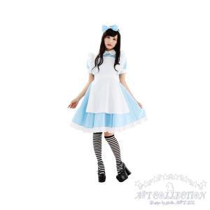 コスプレ メイド服 不思議の国のアリス風AKIBAリボンメイド/S・M・Lサイズ|yapy|02